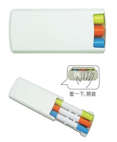 18-A0101100-18V-1121E 三入果凍螢光筆組