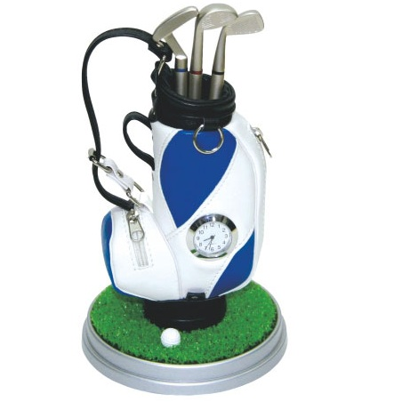 18-A010128000-8030 高爾夫袋型座鐘組