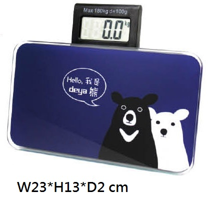 18-G049110400-178101BU deya熊迷你體重計