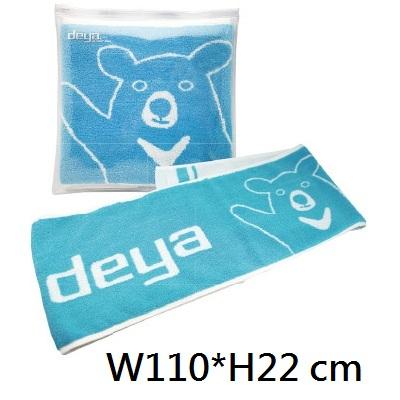 18-G04978400-178401BU deya熊緹花運動巾