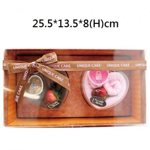 18-G04967200 愛戀蛋糕購物袋禮盒/兩入