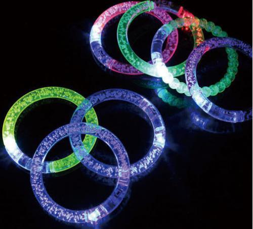 18-A0157200-W1-23 壓克力LED閃亮手環
