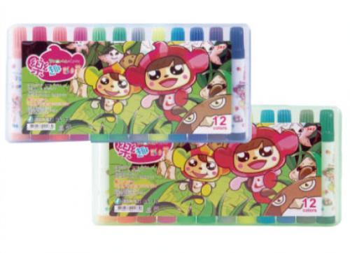 18-A01520000-CL-75 12色彩色筆(塑膠硬盒)