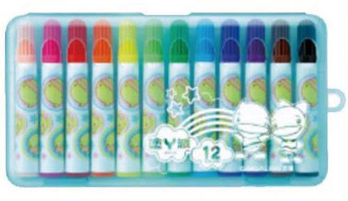 18-A01520000-CFM-12B 雄獅12色彩色筆功夫鴨