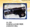 禮品 贈品 禮贈品 禮品公司-AEA06489200UL309 - 3瓦超強光LED燈手電筒