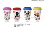 禮品公司 禮品 贈品 禮贈品-AFE06848000TD-603C-B-G - 大頭狗雙層隔熱手拿杯(矽膠蓋)(單入)